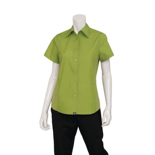Chef Works Womens Cool Vent Chef Shirt Lime 2XL